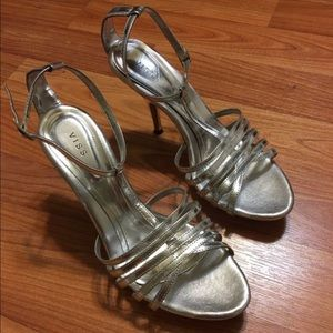 Shoes - Silver open heels